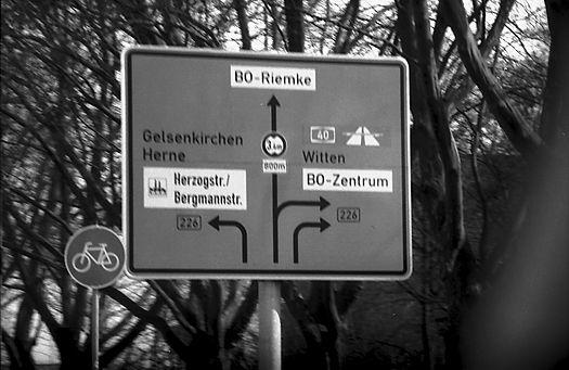 Schild in Bochum