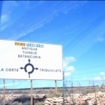 Hinweisschild Antigua / Fuerteventura