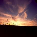 Sonnenuntergang mit imposanten Farben (c) Dieter Gotzen