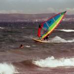 Windsurfen in der Bucht von Rosas / Costa Brava