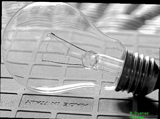 Glühlampe 9x12cm Negativformat