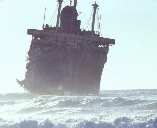 """Das gekenterte Luxusschiff """"American Star"""""""