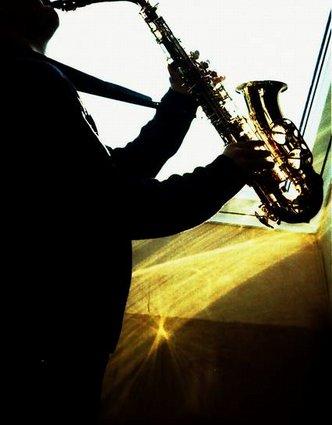 Portrait eines Saxophonisten