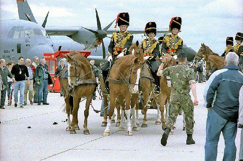 Reitertrupp auf der Airbase Geilenkirchen