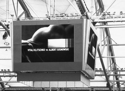 Große Ereignisse werfen ihre Schatten voraus: 29.05.2010 VELTINS-Arena auf Schalke