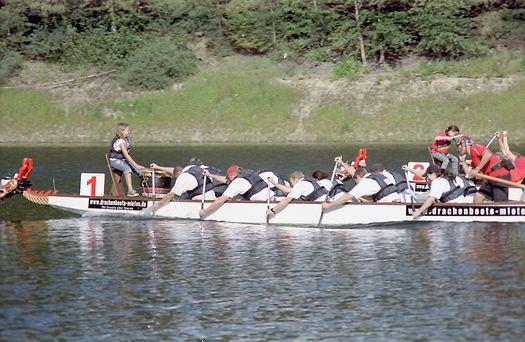 Drachenboot Krähwinkler Brücke