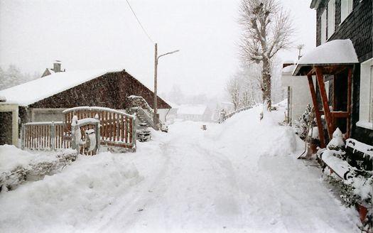 Schnee in Hückeswagen