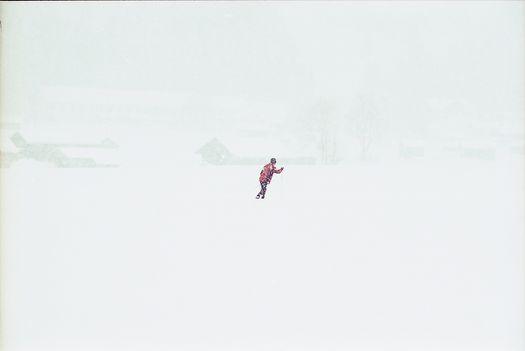 starkschneefall und whiteout in Bad Hindelang