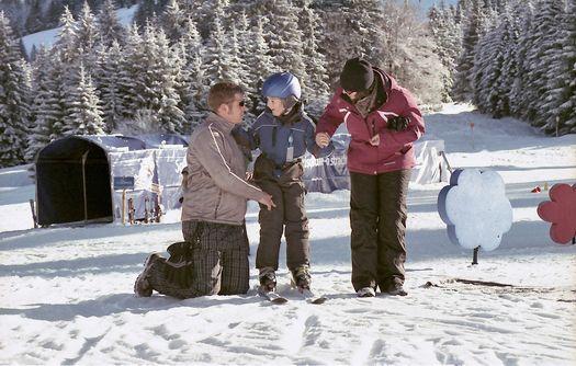 Familie und Wintersport