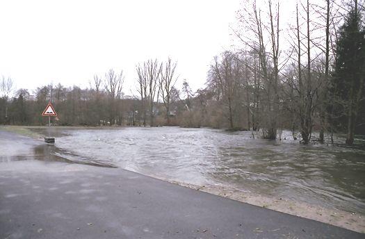 Hochwasser Hückeswagen Wupperauen